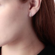 Créoles Jacoba Rondes Or Jaune Oxyde De Zirconium - Boucles d'oreilles Créoles Femme   Marc Orian