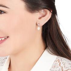 Boucles D'oreilles Pendantes Dolores Argent Perle De Culture Et Oxyde - Boucles d'oreilles Pendantes Femme | Marc Orian