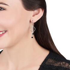 Boucles D'oreilles Pendantes Tamar Argent Blanc Pierre De Synthese - Boucles d'oreilles Pendantes Femme | Marc Orian