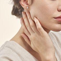 Boucles D'oreilles Puces Edmee Cercle 0 Or Jaune Strass - Clous d'oreilles Femme | Marc Orian