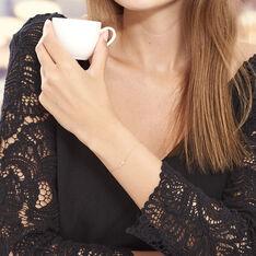 Bracelet Cobeia Croix Maille Forçat Or Jaune Oxyde De Zirconium - Bracelets chaînes Femme | Marc Orian