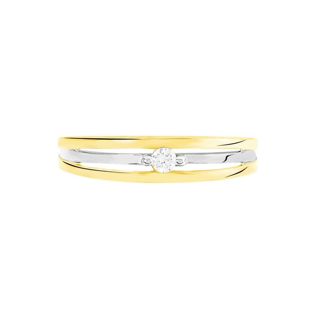 Bague Solitaire Darianne Or Bicolore Diamant