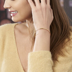 Bracelet Jonc Cynthia Fil Flexible Or Jaune - Bracelets jonc Femme | Marc Orian
