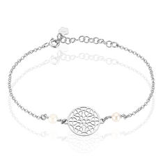 Bracelet Argent Rosace Celtique Perles - Bracelets chaînes Femme | Marc Orian