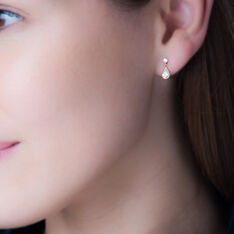 Boucles D'oreilles Pendantes Lika Or Jaune Oxyde De Zirconium - Boucles d'oreilles Pendantes Femme   Marc Orian