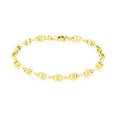 Bracelet Or Jaune Maille Marine Plate - Bracelets mailles Femme | Marc Orian