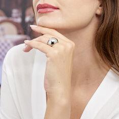 Bague Cleoria Acier Blanc - Bague fantaisie Femme | Marc Orian