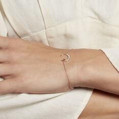 Bracelet Elizaveta Argent Rose Oxyde De Zirconium - Bracelets chaînes Femme | Marc Orian