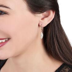 Boucles D'oreilles Plaque Or Hanae Plume - Boucles d'oreilles Pendantes Femme | Marc Orian