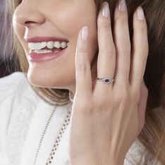 Bague Syriana Or Blanc Saphir Et Diamant - Bagues Solitaire Femme | Marc Orian