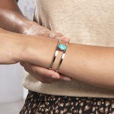 Bracelet Jonc Eline Acier Blanc Pierre De Synthese - Bracelets jonc Femme | Marc Orian