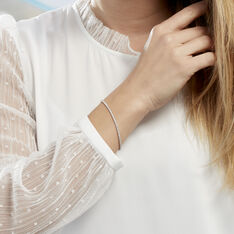 Bracelet Anthia Argent Blanc Oxyde De Zirconium - Bracelets chaînes Femme | Marc Orian