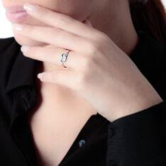 Bague Delphine Or Blanc Diamant - Parure de mariage Femme | Marc Orian