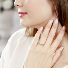 Bague Amarylis Or Jaune Emeraude Diamant - Bagues Femme | Marc Orian