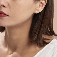 Boucles D'oreilles Puces Suki Rondes Nacres Or Jaune Perle De Culture - Clous d'oreilles Femme   Marc Orian