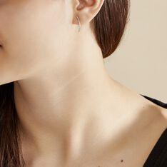 Bijoux D'oreilles Eleana Or Blanc Oxyde De Zirconium - Boucles d'oreilles Ear cuffs Femme | Marc Orian
