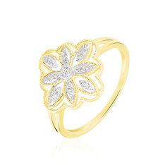 Bague Veda Or Jaune Diamant - Bagues Femme   Marc Orian