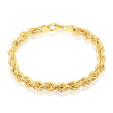 Bracelet Jerry Maille Corde Or Jaune - Bracelets mailles Femme | Marc Orian