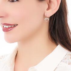 Boucles D'oreilles Pendantes Cosima Argent Blanc - Boucles d'oreilles Pendantes Femme   Marc Orian