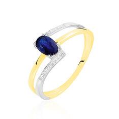 Bague Or Bicolore Saphir Et Diamant - Bagues Solitaire Femme | Marc Orian