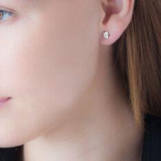 Boucles D'oreilles Puces Elais Etoile 0 Or Jaune Strass - Clous d'oreilles Femme | Marc Orian