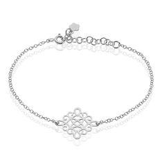 Bracelet Rombi Argent Blanc - Bracelets chaînes Femme | Marc Orian