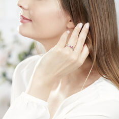 Bague Amarylis Or Blanc Rubis Diamant - Bagues Femme   Marc Orian