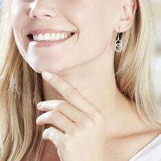 Boucles D'oreilles Pendantes Isabel Argent Blanc Oxyde De Zirconium - Boucles d'oreilles Pendantes Femme | Marc Orian
