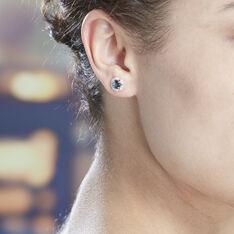 Boucles D'oreilles Puces Adryene Or Rose Topaze Et Oxyde De Zirconium - Clous d'oreilles Femme | Marc Orian