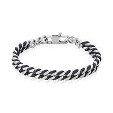 Bracelet Jonc Romeo Acier Blanc - Bracelets jonc Homme | Marc Orian