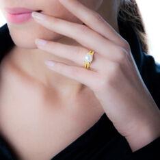 Bague Tounes Or Jaune Perle De Culture - Bagues Femme   Marc Orian