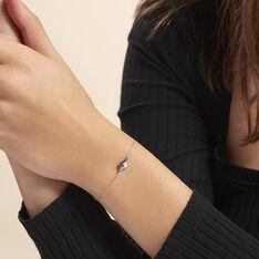 Bracelet Sculptural Or Blanc Diamant - Bracelets chaînes Femme | Marc Orian