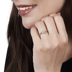 Bague Solitaire Soultana Or Blanc Diamant - Bagues Solitaire Femme | Marc Orian