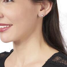 Boucles D'oreilles Puces Bahiya Or Bicolore Diamant - Clous d'oreilles Femme   Marc Orian