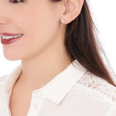 Boucles D'oreilles Puces Breana Argent Blanc Oxyde De Zirconium - Clous d'oreilles Femme | Marc Orian