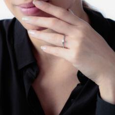 Bague Solitaire Natalia Or Blanc Diamant - Bagues Solitaire Femme | Marc Orian
