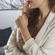 Bracelet Argent Rhodié Maic - Bracelets chaînes Femme | Marc Orian