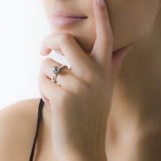 Bague Argent Rhodie Oxyde - Bague fantaisie Femme | Marc Orian