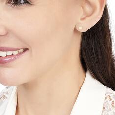 Boucles D'oreilles Puces Daria Coeur Plein Or Jaune Oxyde De Zirconium - Clous d'oreilles Femme | Marc Orian