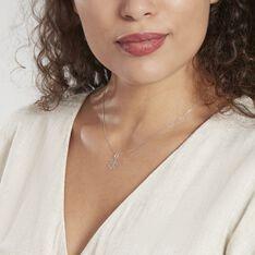 Pendentif Koulmia Trefle Diamante Or Blanc - Pendentifs Femme   Marc Orian