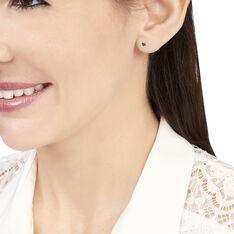 Boucles D'oreilles Puces Daria Or Blanc Oxyde De Zirconium - Clous d'oreilles Femme | Marc Orian