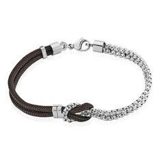 Bracelet Acier Pablo Cordon Marron Nœud - Bracelets cordons Homme | Marc Orian