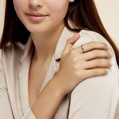 Bague Florentina Or Blanc Saphir Et Diamant - Bagues Femme   Marc Orian