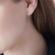 Boucles D'oreilles Puces Edmee Cercle Or Jaune Oxyde De Zirconium - Clous d'oreilles Femme | Marc Orian