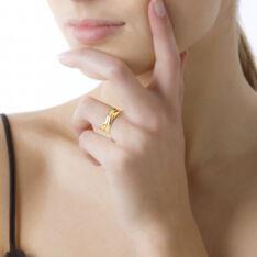 Bague Croisee Or Jaune Diamant - Bagues Femme | Marc Orian