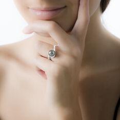Bague Fanelia Argent Blanc Perle D'imitation - Bague fantaisie Femme | Marc Orian
