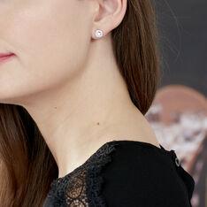 Boucles D'oreilles Puces Star Or Blanc Oxyde De Zirconium - Clous d'oreilles Femme | Marc Orian