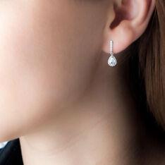 Boucles D'oreilles Pendantes Briony Argent Blanc Oxyde De Zirconium - Boucles d'oreilles Pendantes Femme | Marc Orian