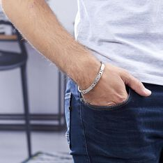 Bracelet Joe Acier Blanc - Bracelets chaînes Homme | Marc Orian