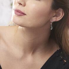 Boucles D'oreilles Pendantes Odilon Argent Blanc Ambre - Boucles d'oreilles Pendantes Femme | Marc Orian